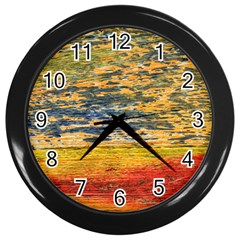 The Framework Drawing Color Texture Wall Clocks (black)