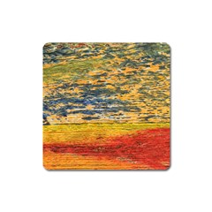 The Framework Drawing Color Texture Square Magnet