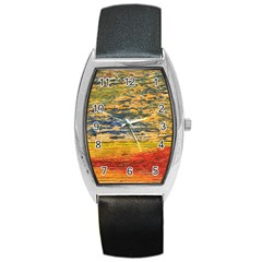 The Framework Drawing Color Texture Barrel Style Metal Watch