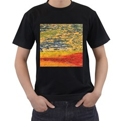 The Framework Drawing Color Texture Men s T Shirt (black) (two Sided)