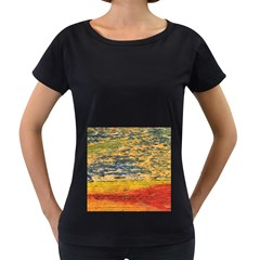 The Framework Drawing Color Texture Women s Loose Fit T Shirt (black)