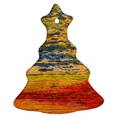 The Framework Drawing Color Texture Christmas Tree Ornament (two Sides)