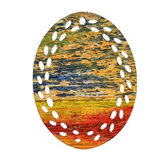 The Framework Drawing Color Texture Oval Filigree Ornament (two Sides)