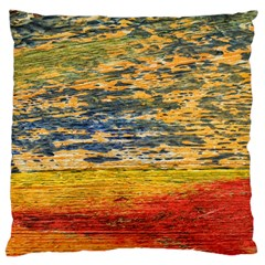 The Framework Drawing Color Texture Large Cushion Case (two Sides)