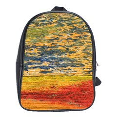 The Framework Drawing Color Texture School Bag (xl)