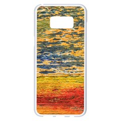The Framework Drawing Color Texture Samsung Galaxy S8 Plus White Seamless Case