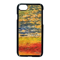 The Framework Drawing Color Texture Apple Iphone 8 Seamless Case (black)