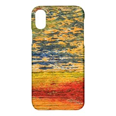 The Framework Drawing Color Texture Apple Iphone X Hardshell Case