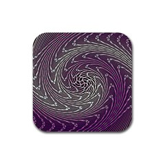 Graphic Abstract Lines Wave Art Rubber Coaster (square)