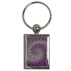 Graphic Abstract Lines Wave Art Key Chains (rectangle)