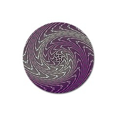 Graphic Abstract Lines Wave Art Magnet 3  (round)