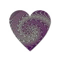 Graphic Abstract Lines Wave Art Heart Magnet