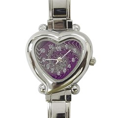 Graphic Abstract Lines Wave Art Heart Italian Charm Watch