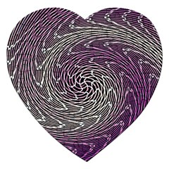 Graphic Abstract Lines Wave Art Jigsaw Puzzle (heart)