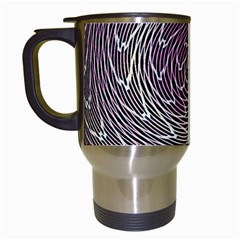 Graphic Abstract Lines Wave Art Travel Mugs (white)