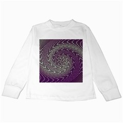Graphic Abstract Lines Wave Art Kids Long Sleeve T Shirts