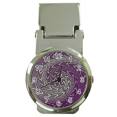 Graphic Abstract Lines Wave Art Money Clip Watches