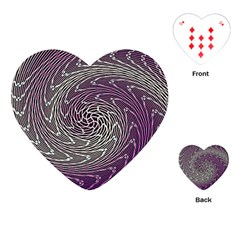 Graphic Abstract Lines Wave Art Playing Cards (heart)
