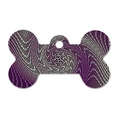 Graphic Abstract Lines Wave Art Dog Tag Bone (two Sides)