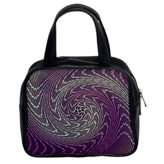 Graphic Abstract Lines Wave Art Classic Handbags (2 Sides)