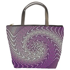 Graphic Abstract Lines Wave Art Bucket Bags