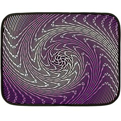 Graphic Abstract Lines Wave Art Double Sided Fleece Blanket (mini)
