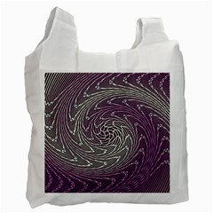 Graphic Abstract Lines Wave Art Recycle Bag (two Side)