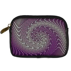 Graphic Abstract Lines Wave Art Digital Camera Cases