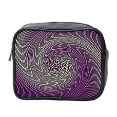 Graphic Abstract Lines Wave Art Mini Toiletries Bag 2 Side