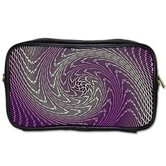 Graphic Abstract Lines Wave Art Toiletries Bags