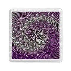 Graphic Abstract Lines Wave Art Memory Card Reader (square)