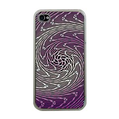 Graphic Abstract Lines Wave Art Apple Iphone 4 Case (clear)