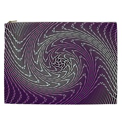 Graphic Abstract Lines Wave Art Cosmetic Bag (xxl)