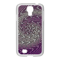 Graphic Abstract Lines Wave Art Samsung Galaxy S4 I9500/ I9505 Case (white)