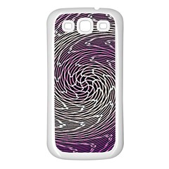 Graphic Abstract Lines Wave Art Samsung Galaxy S3 Back Case (white)