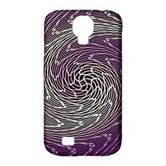 Graphic Abstract Lines Wave Art Samsung Galaxy S4 Classic Hardshell Case (pc+silicone)