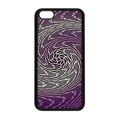 Graphic Abstract Lines Wave Art Apple Iphone 5c Seamless Case (black)