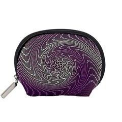 Graphic Abstract Lines Wave Art Accessory Pouches (small)