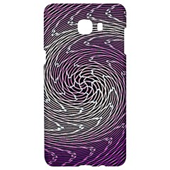 Graphic Abstract Lines Wave Art Samsung C9 Pro Hardshell Case