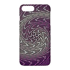 Graphic Abstract Lines Wave Art Apple Iphone 8 Plus Hardshell Case