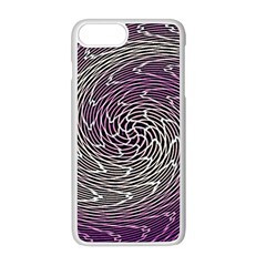 Graphic Abstract Lines Wave Art Apple Iphone 8 Plus Seamless Case (white)
