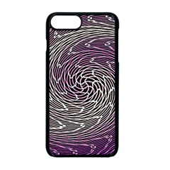Graphic Abstract Lines Wave Art Apple Iphone 8 Plus Seamless Case (black)
