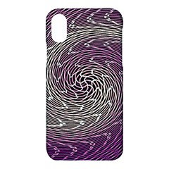 Graphic Abstract Lines Wave Art Apple Iphone X Hardshell Case