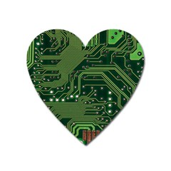 Board Computer Chip Data Processing Heart Magnet