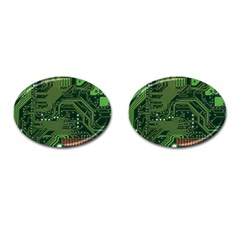 Board Computer Chip Data Processing Cufflinks (oval)