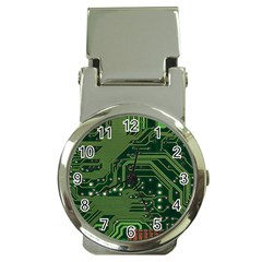Board Computer Chip Data Processing Money Clip Watches