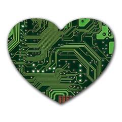 Board Computer Chip Data Processing Heart Mousepads