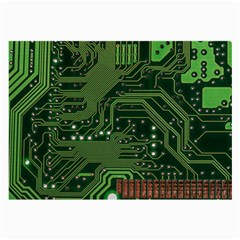 Board Computer Chip Data Processing Large Glasses Cloth