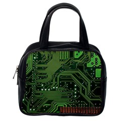 Board Computer Chip Data Processing Classic Handbags (one Side)