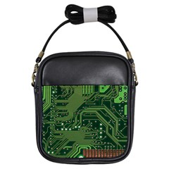 Board Computer Chip Data Processing Girls Sling Bags